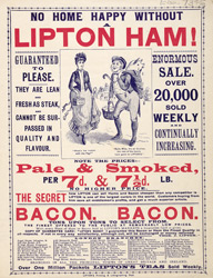 Advert For Lipton's Store